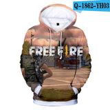 Adult child size Hoodies Personality Free Fire Hoodies 3D
