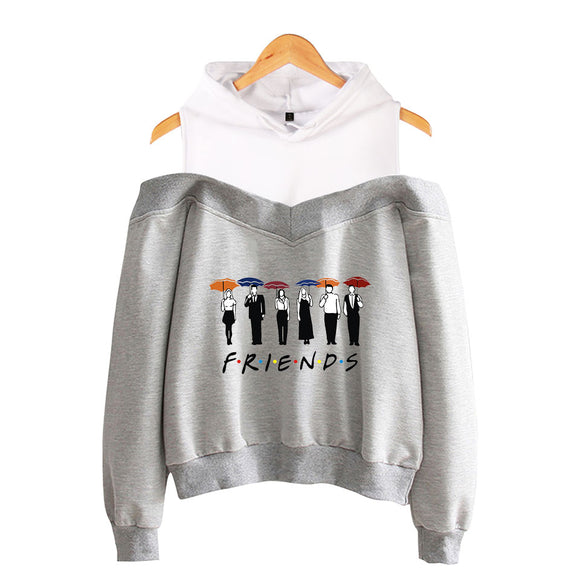 Women Friends Hoodies Harajuku Letters Print Sweatshirts Thicken kpop