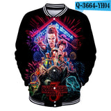Popular TV Stranger Things Baseball Coats & Jackets 3d Print