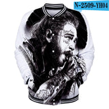 New Post Malone Baseball uniform Women spring Casual