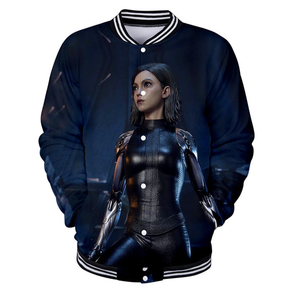 TJ drop shopping 2019 new 3D Alita Battle Angel Baseball uniform Men/Women