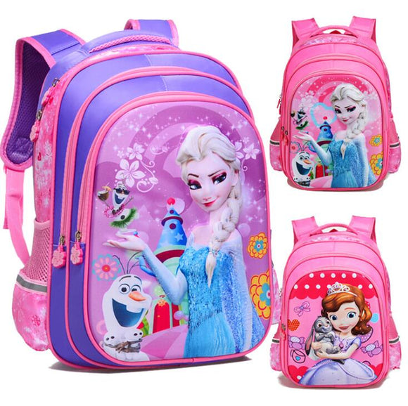 Disney frozen Sofia schoolboy schoolbag school cartoon kindergarten princess backpack girl