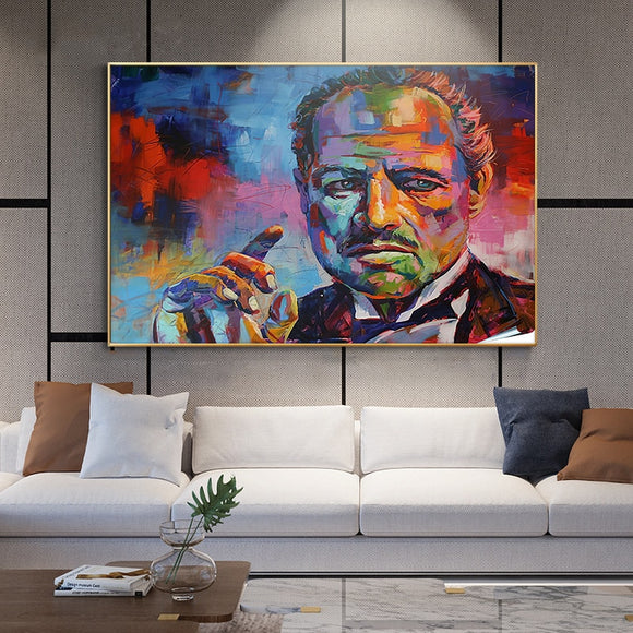 Classic Movie Godfather Art poster canvas painting wall Colorful Portrait pictures posters and prints for living room Home decor