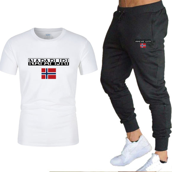 Men's sets t shirts + pants two pieces sets casual