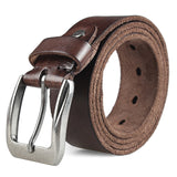 MEDYLA Men Top Layer Leather  Casual High Quality Belt Vintage Design Pin Buckle