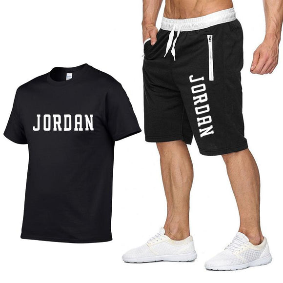 Tracksuit Men Sets Male Sweatshirt Pants Summer Men's Cropped T Shirt Shorts Casual Suits Sportswear Mens