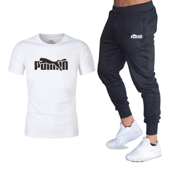 New Hot men's sets t shirts + pants two pieces sets casual tracksuit basketball new fashion print suits