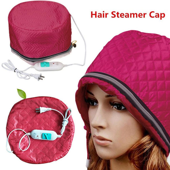 US Plug Electric Hair Thermal Treatment Beauty Steamer SPA Nourishing Hair Care Cap