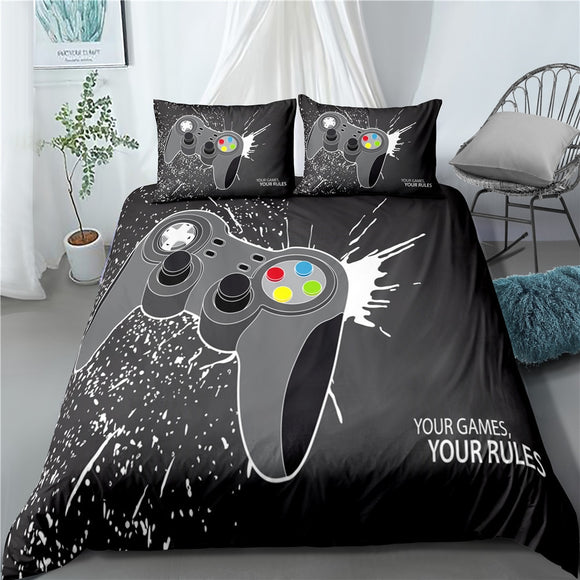 Bedding Set Gamepad Duvet Cover Game Colorful Bed Quilt Cover 3D Printing