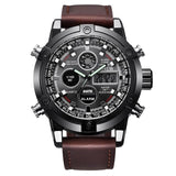 Chronograph Business Watch Mens Leather Digital Wristwatches creative watches