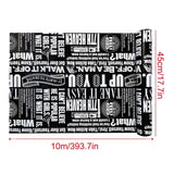 Self Adhesive Black White Wallpaper for Dorm Living Room Bedroom Walls