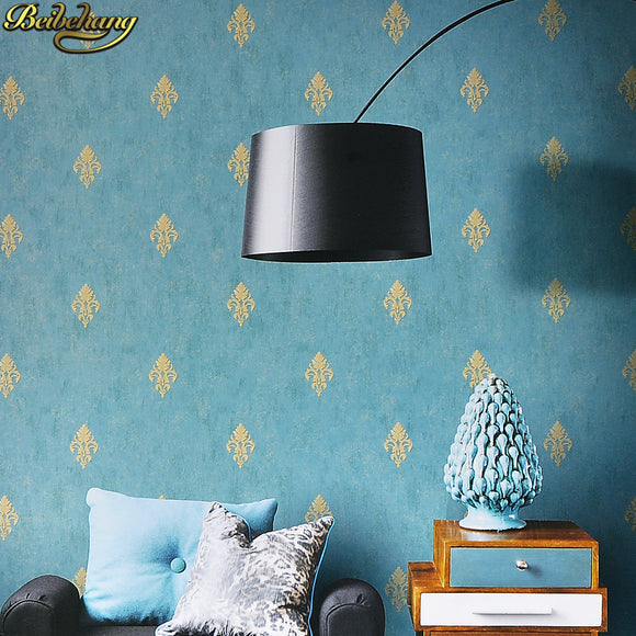 beibehang European minimalist Damascus wallpaper bedroom living room TV background 3d