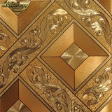 beibehang Classic Luxury wallpaper Roll Gold Foil Wallcovering Glitter Geometry PVC Wall