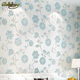 beibehang Holy hundred non-woven living room wallpaper 3D romantic pastoral bedroom wall
