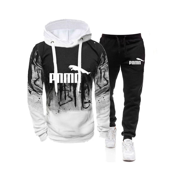 Tracksuit Men Two Pieces Set Mens Sportswear Male Jacket Hoodie And Pants Sweatsuit Clothes Ropa