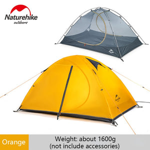 Naturehike Camping Double-layer 2 person Tent Outdoor Hiking Riding Picnic 3 Season 20D Nylon Tent