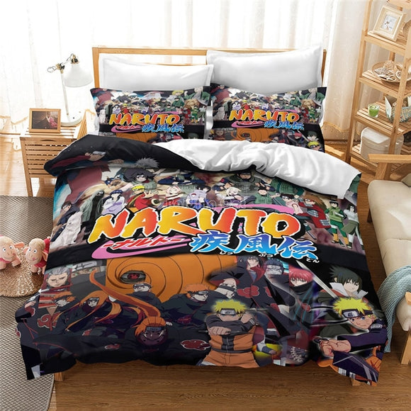 Naruto Printed Bedding Set King Duvet Cover