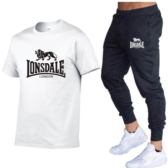 Hot-Selling Summer T-shirt Pants Set Casual Lonsdale
