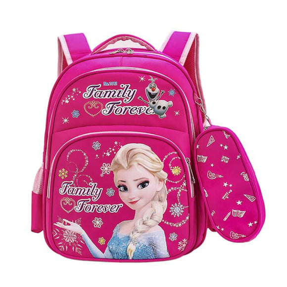 Disney Frozen Princess School Bags Kids Cartoon Backpack Schoolbag Kids Backpack School Bags for Girls