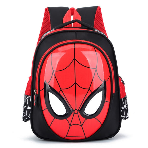 Disney New Boys 3-6 Year Old 3D School Bags Child Spiderman Book bag Kids Shoulder Bag