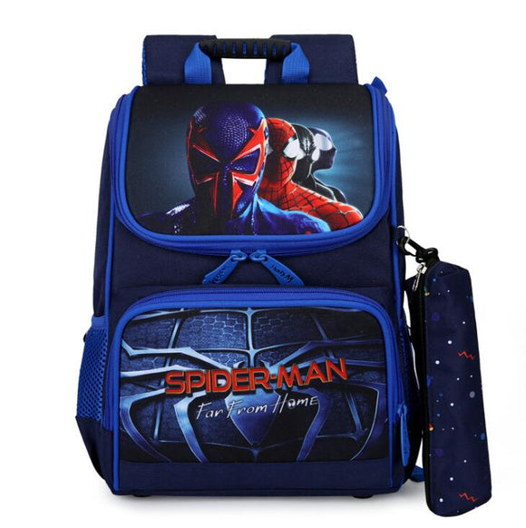 Disney Spiderman Schoolbag Cute Student School Backpack Printed Waterproof Bagpack