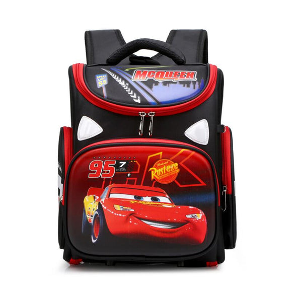 Disney School Bag for Girls Boys Children Orthopedic Backpack Kids Cartoon Cars Waterproof