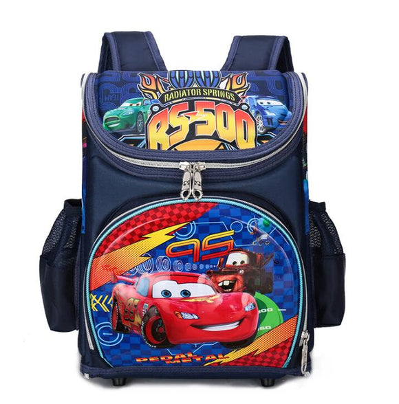 Disney New Boys Cars Schoolbags For Primary School Students Children's Bag Waterproof Backpack