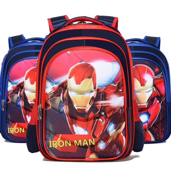 New Iron Man Captain America Boy Girl Children Kindergarten School bag Teenager Schoolbags Kids