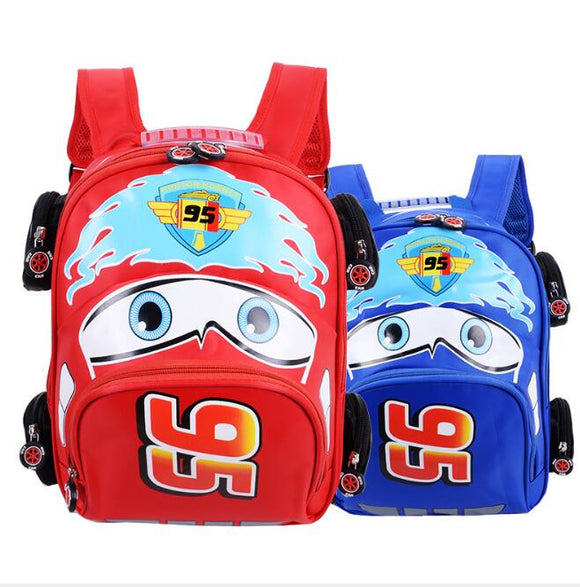 Disney Children Cartoon Car School Bag Boys Girls Primary School Backpack Kids