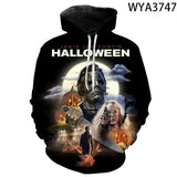 fashion new horror Hoodie street style 3D men and women  Michael Myers autumn and winter