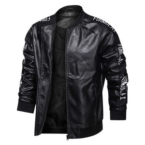 Motorcycle Men Leather Jacket New Autumn Causal Coat Man Winter Outfit Fashion Biker