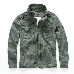 Oversized Camo Jacket Boys Casual Wear Denim Jacket Men Overall Military Winter Thick Khaki