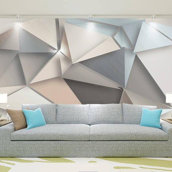 Custom Photo Wall Paper 3D Modern TV Background Living Room Bedroom Abstract Art Wall Mural Geometric Wall Covering Wallpaper