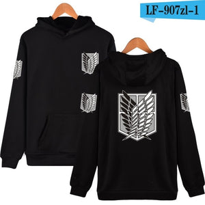 Harajuku Sweatshirt Attack On Titan Cosplay Print Hoodies Japan Comics Hiphop