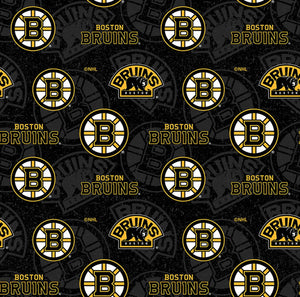 NHL Hockey Boston Bruins Tone on Tone Cotton