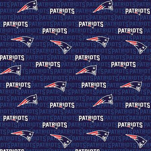 NFL Football New England Patriots Cotton Print