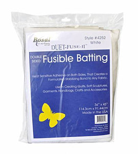 Duet Fuse II Double Sided Fusible Batting 36in x 45in
