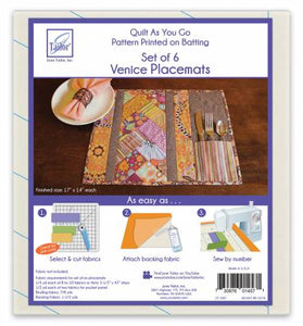 Quilt As You Go Placemat Venice Pattern