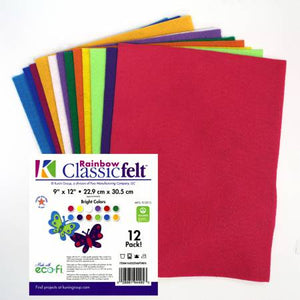 Classic Felt 9in x 12in Kaleidoscope 12pc
