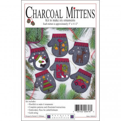 Charcoal Mittens Ornaments