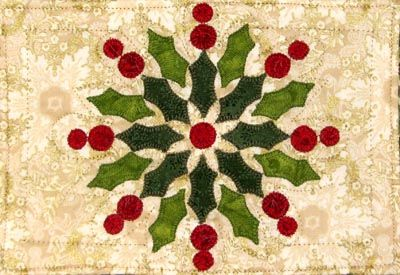 Radient Christmas Wreath Mug Rug Kit