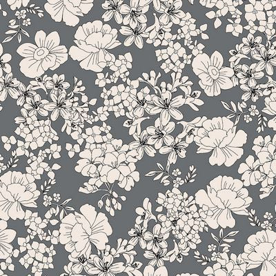 AVALANA Jersey-Flowers Grey