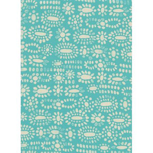 Sienna - Moonstone - Turquoise Rayon Fabric