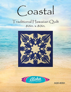 Coastal Traditional Hawaiian Quilt Pattern