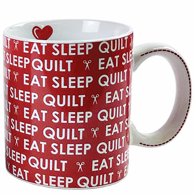 Eat Sleep Quilt Mug