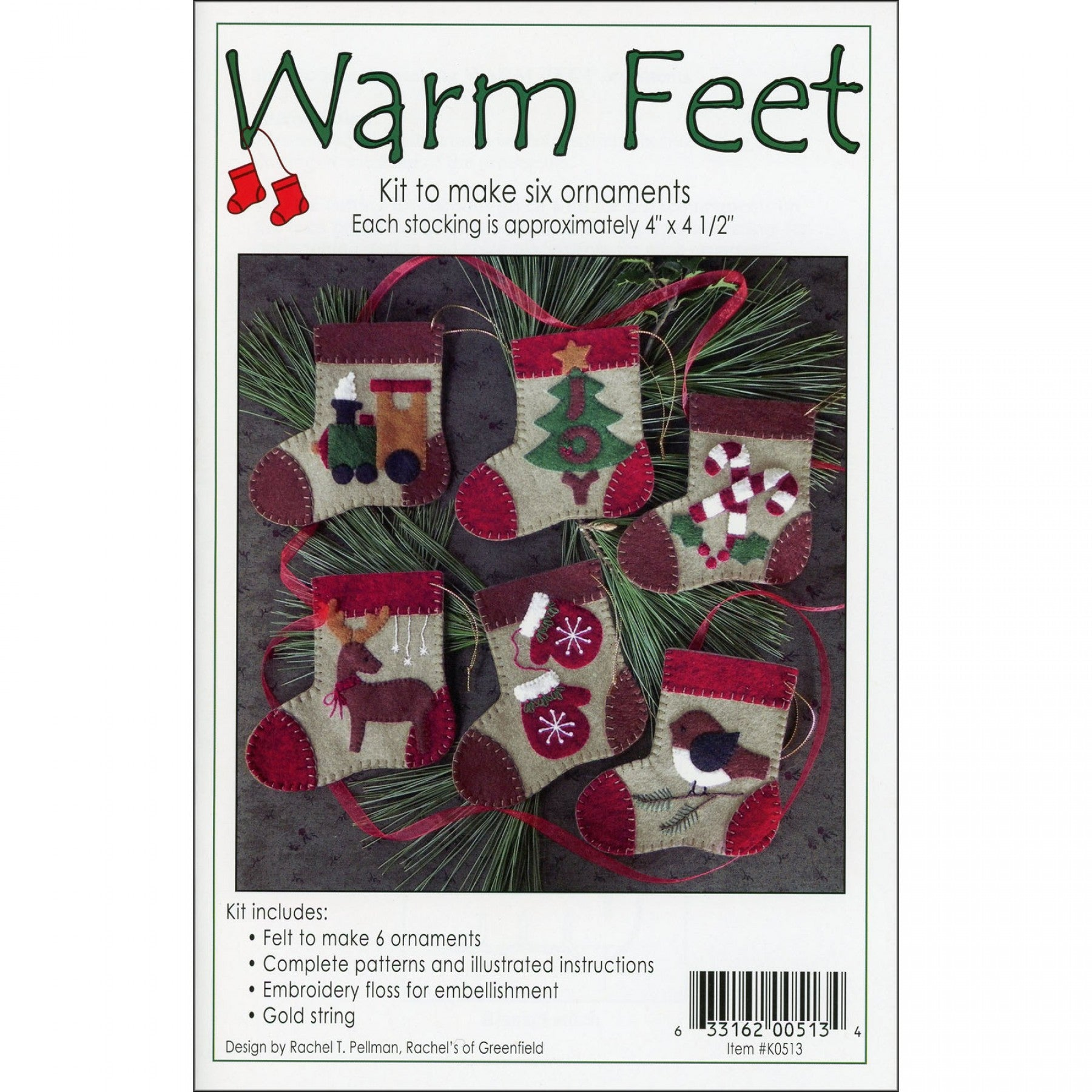 Warm Feet Ornaments
