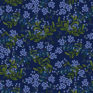 Meadow - Cornflower - Navy Rayon Fabric