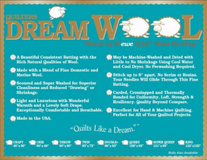 Quilters Dream Wool Batting