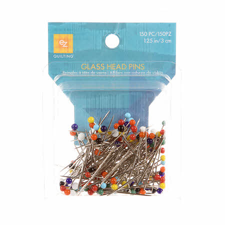 Glass Head Pins - Assorted colors
