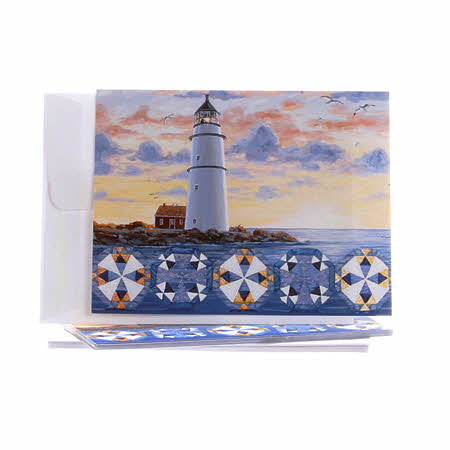 Boxed Note Cards -  Lighthouse Quilt